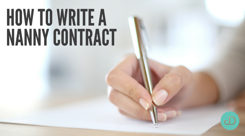 How to Write a Nanny Contract